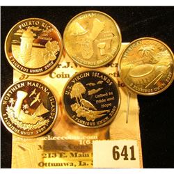 2009 S Five-piece Set of U.S. Territories Proof Commemorative Quarters.