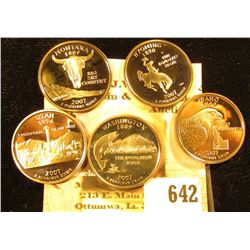 2007 S Five-piece Set of U.S. Statehood Proof Commemorative Quarters.