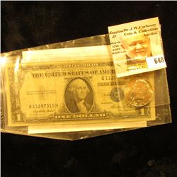 1970 D Silver Rare Date Kennedy Half Dollar, Gem BU; & Series 1935 E U.S. One Dollar Silver Certitic