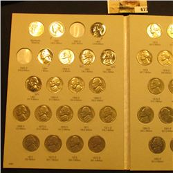 1962-95 Partial Set of Jefferson Nickels in a Harris Coin folder. Includes at least a couple of Proo