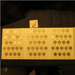1962-95 Partial Set of Jefferson Nickels in a Harris Coin folder. (59 pcs.).