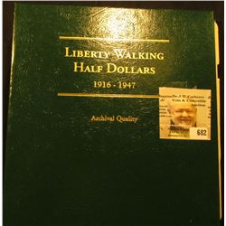 Archival Quality Littleton Custom Liberty Walking Half Dollar Series Coin Album 1916-1947 containing