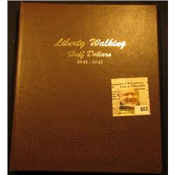 "Deluxe ""World Coin Library"" Coin Album for ""Liberty Walking Half Dollars 1941-1947"" containing a 194"