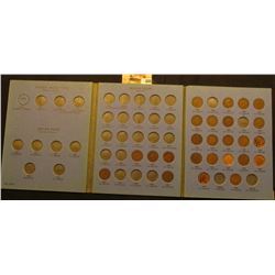 1880-1909 Partial Set of Indian Head Cents in a blue Whitman folder. (25 different dates).