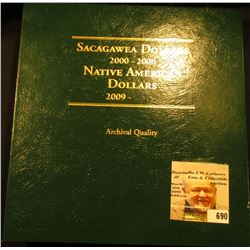Nearly Complete Set of Sacagawea Dollars in a very nice deluxe Littleton Coin Album. Includes the fo