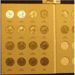 1988-98 Set of U.S. Washington Quarters in a Harris Coin folder. (22 pcs.).
