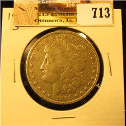 1901 S U.S. Morgan Silver Dollar. Fine.