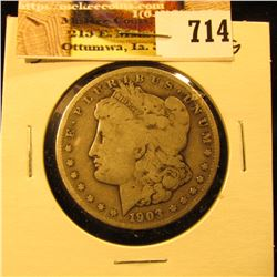 1903 S U.S. Morgan Silver Dollar. VG.