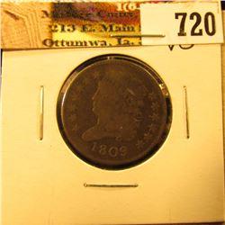 1809 U.S. Half Cent, VG.