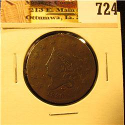 1830 U.S. Large Cent, VG.