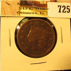 1838 U.S. Large Cent, Fine.