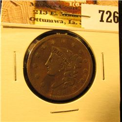 1838 U.S. Large Cent, Fine-VF.