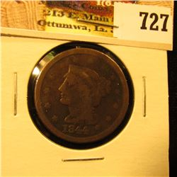 1844 U.S. Large Cent, G-VG.