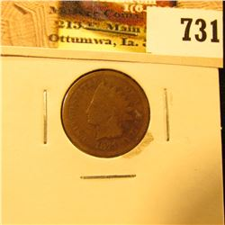 1871 U.S. Indian Head Cent, Good.