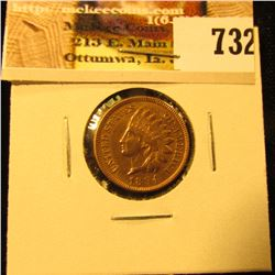 1894 U.S. Indian Head Cent, AU, cleaned.