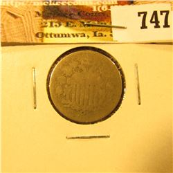 1868 U.S. Shield Nickel, AG.