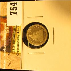 1853 U.S. Seated Liberty Half Dime, With Arrows, AG.