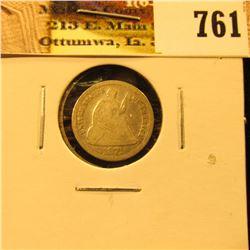 1871 U.S. Seated Liberty Half Dime, Good, scratches.