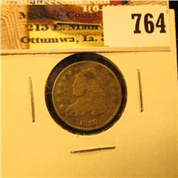 1829 Capped Bust Dime, Fine, slightly discolored.