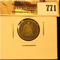 1875 CC U.S. Seated Liberty Dime, VG.