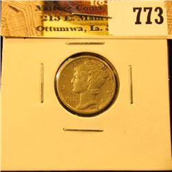 1926 D U.S. Mercury Dime, EF.