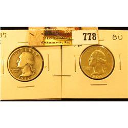 1937 S Washington Quarter, VG-F & 1964 D/D Washington Quarter