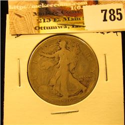 1916 D U.S. Walking Liberty Half Dollar, Good.
