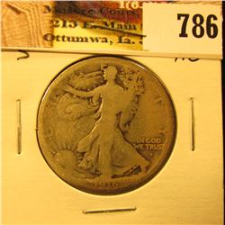 1916 S U.S. Walking Liberty Half Dollar, AG.