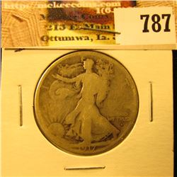 1917 Obverse D U.S. Walking Liberty Half Dollar, AG.