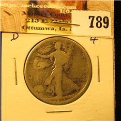 1917 Reverse D U.S. Walking Liberty Half Dollar, G.