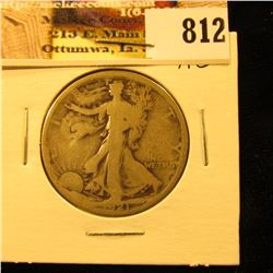 1921 P U.S. Walking Liberty Half Dollar, AG. Key date.