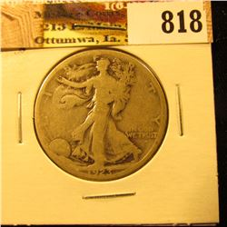 1923 S U.S. Walking Liberty Half Dollar, Good