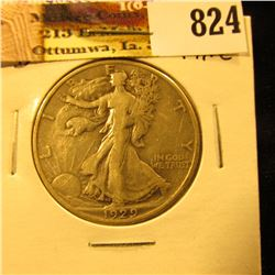 1929 D U.S. Walking Liberty Half Dollar, Fine.