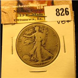 1929 S U.S. Walking Liberty Half Dollar, VG+