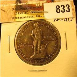 1925 Lexiington/Concord Centennial Commemorative Half Dollar, EF-AU.