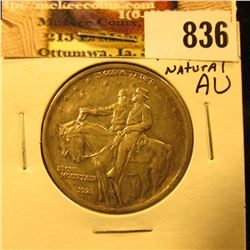 1925 Stone Mountain Commemorative Half Dollar, AU with nice natural toning.