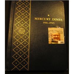1916-45 Nearly complete set of U.S. Mercury Dimes in a Deluxe Whitman album. Missing only the 1916 D