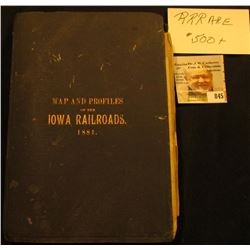 "Book with Maps, which 'Doc' valued in his personal collection at $500 titled ""Maps and Profiles of t"