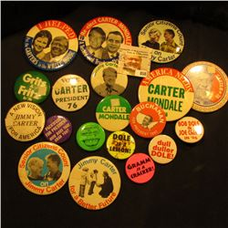 Group of (20) Different Old Political Pin-backs.