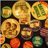 Image 2 : Group of (20) Different Old Pin-backs.  Most are Political.