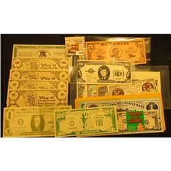 (25) Different pieces of funny money, Show money, & etc.