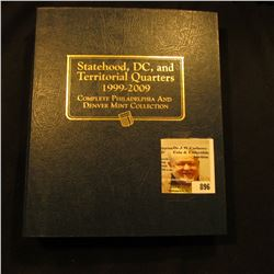 Deluxe Whitman Album with (112) Statehood, DC, and Territorial Quarters 1999 to 2009. All Gem BU.