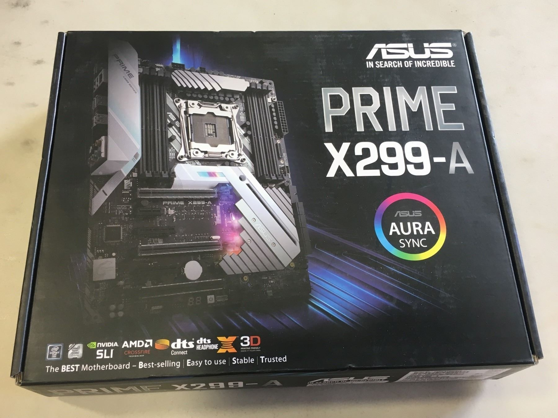 ASUS PRIME X299-A MOTHERBOARD WITH AURA SYNC