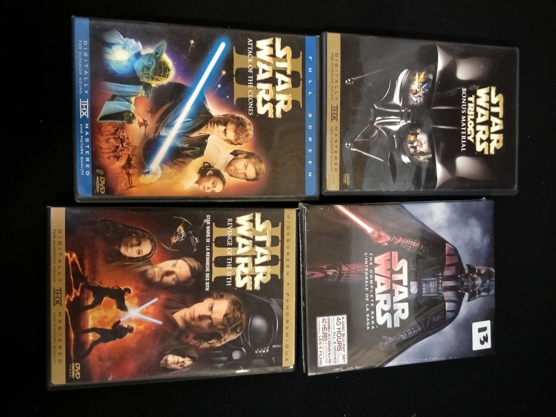 Starwars 3 Packs Revenge Of The Sith Attack Of The Clones Trilogy Material 9disc Blu Ray New 6 Movie