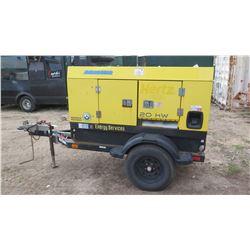 Wacker Neuson 20KW Generator w/Isuzu Motor, 3-Phase, 5593 Hrs, Trailer-Mounted