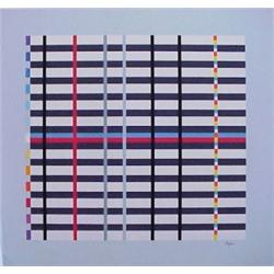 Yaacov Agam (b. 1928) Israeli, UNTITLED, color screenprint, signed in pencil, from the numbered...