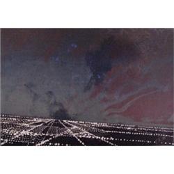 Peter Alexander (b. 1939) American, CITY NIGHTS, 1989, original color monotype, image 20 1/2 x...