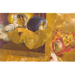 Sunol Alvar (b. 1935) Spanish, LE REGARD DU FUTURE, color lithograph, signed in pencil, the num...