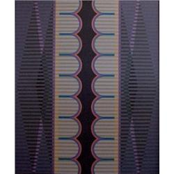 """Arthur Ames (1906-1975) American, UNTITLED, 1970, acrylic painting on canvas, 72 x 60"""", signed..."""