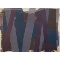 Edward Avedisian (b. 1936) Armenian, BLUE GRAY PURPLE, 1969, color screenprint, signed in penci...